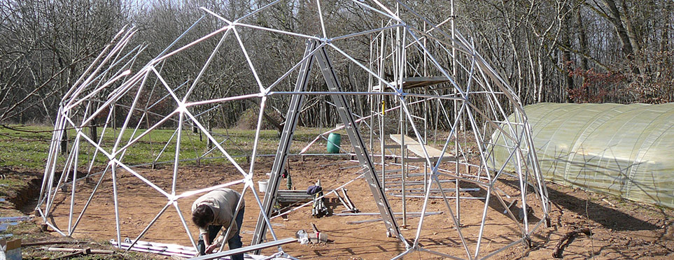 construction de la serre